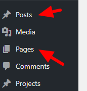 The difference between a WordPress post and page